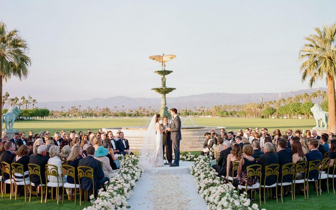 Romantic Fall Wedding in The Rose Garden at Empire Polo Club